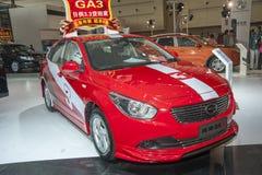 Red trumpchi ga3 car Royalty Free Stock Photo