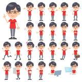 Red Tshirt Glasse men_1 vector illustration