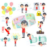 Red Tshirt Glasse men_success & positive Stock Images