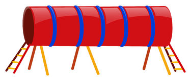 Red tube with ladders at both ends Royalty Free Stock Photography