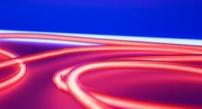 Red tube neon lights. Lighting nightclub modern lamps. Royalty Free Stock Photos