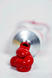 Red Tube of Paint Royalty Free Stock Image