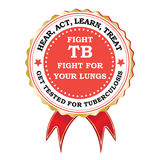 Red Tuberculosis ribbon for heath campaigns. Royalty Free Stock Photography
