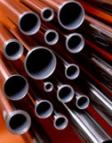 Red tubes Royalty Free Stock Photography