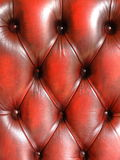 Red tufted leather quilted texture Stock Images