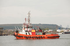 Red tug boat Stock Photography