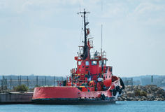 Red tugboat. Stock Images