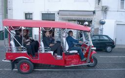 Red  Tuk Tuk   taxi Royalty Free Stock Images