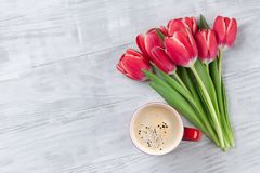 Red tulip flowers bouquet Royalty Free Stock Photo