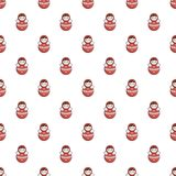 Red tumbler doll pattern Royalty Free Stock Photo