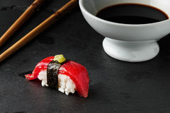 Red tuna Nigiri. Royalty Free Stock Image