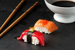 Red tuna Nigiri. Royalty Free Stock Photos