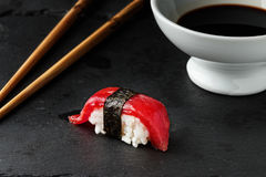 Red tuna Nigiri. Stock Photos