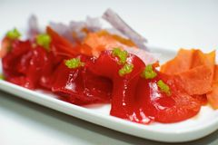 Red tuna view royalty free stock photos