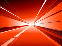 Red tunnel Stock Image