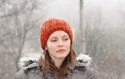 Red tuque Royalty Free Stock Photo