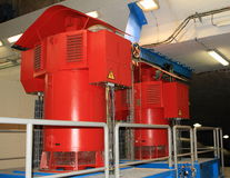 Red turbine Stock Photography