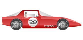 Red turbo car Royalty Free Stock Images