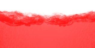 Red turbulent liquid Stock Photos