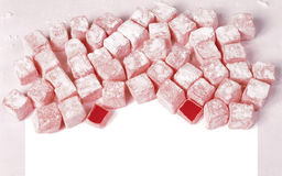 Red Turkish delight Stock Image