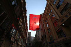 Red Turkish flag Stock Photos