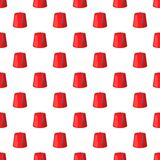 Red turkish hat, fez pattern, cartoon style Stock Images