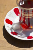 Red Turkish tea Stock Image