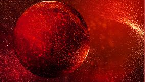 Red Turning Particle World Background 4K Loop stock video
