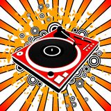 Red turntable Royalty Free Stock Images