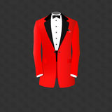 Red tuxedo Royalty Free Stock Photos