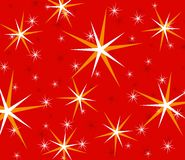 Red Twinkling Sparkling Stars Stock Image