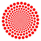 Red twirl. Red vector dotted tunnel twirl Royalty Free Stock Image