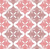 Red twist diamond lace pattern. On white Stock Images