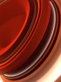 Red twisted shape. Computer generated abstract geometric 3D render illustration Royalty Free Stock Photo