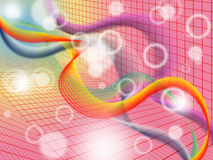 Red Twisting Background Means Colorful Wavy And Graph Stock Image