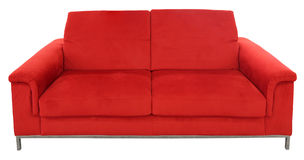 Red two seat sofa Royalty Free Stock Photography
