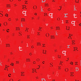 Red Type Seamless Design Royalty Free Stock Photography