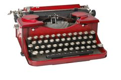 Red typewriter 1 Stock Photos