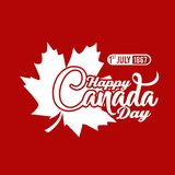 Red typography happy canada background. Background happy canada day with typography white and red stock illustration