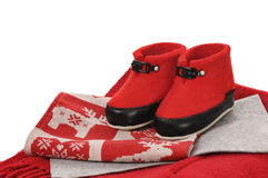 Red uggs Royalty Free Stock Images