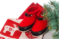 Red uggs Stock Images