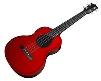 Red ukulele Stock Photography