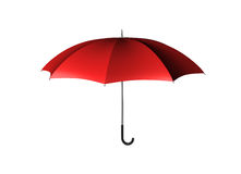 Red Umbrella. Nice red 3d umbrella isolated on white Royalty Free Stock Images