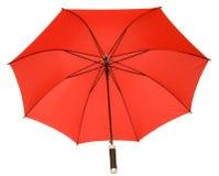 Red umbrella. Isolated on white red umbrella Stock Image