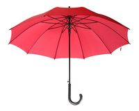 Red umbrella. The red umbrella on white background Stock Image