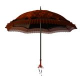 Red umbrella. 3D render of a red umbrella with roses royalty free illustration