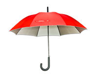 Red umbrella. Isolated on white Stock Photography