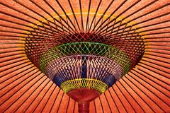 Red umbrella. Traditional Japanese red paper umbrella Stock Photography