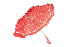 Red Umbrella. For children in front of white background Stock Photo