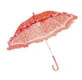 Red Umbrella. For children in front of white background Royalty Free Stock Image